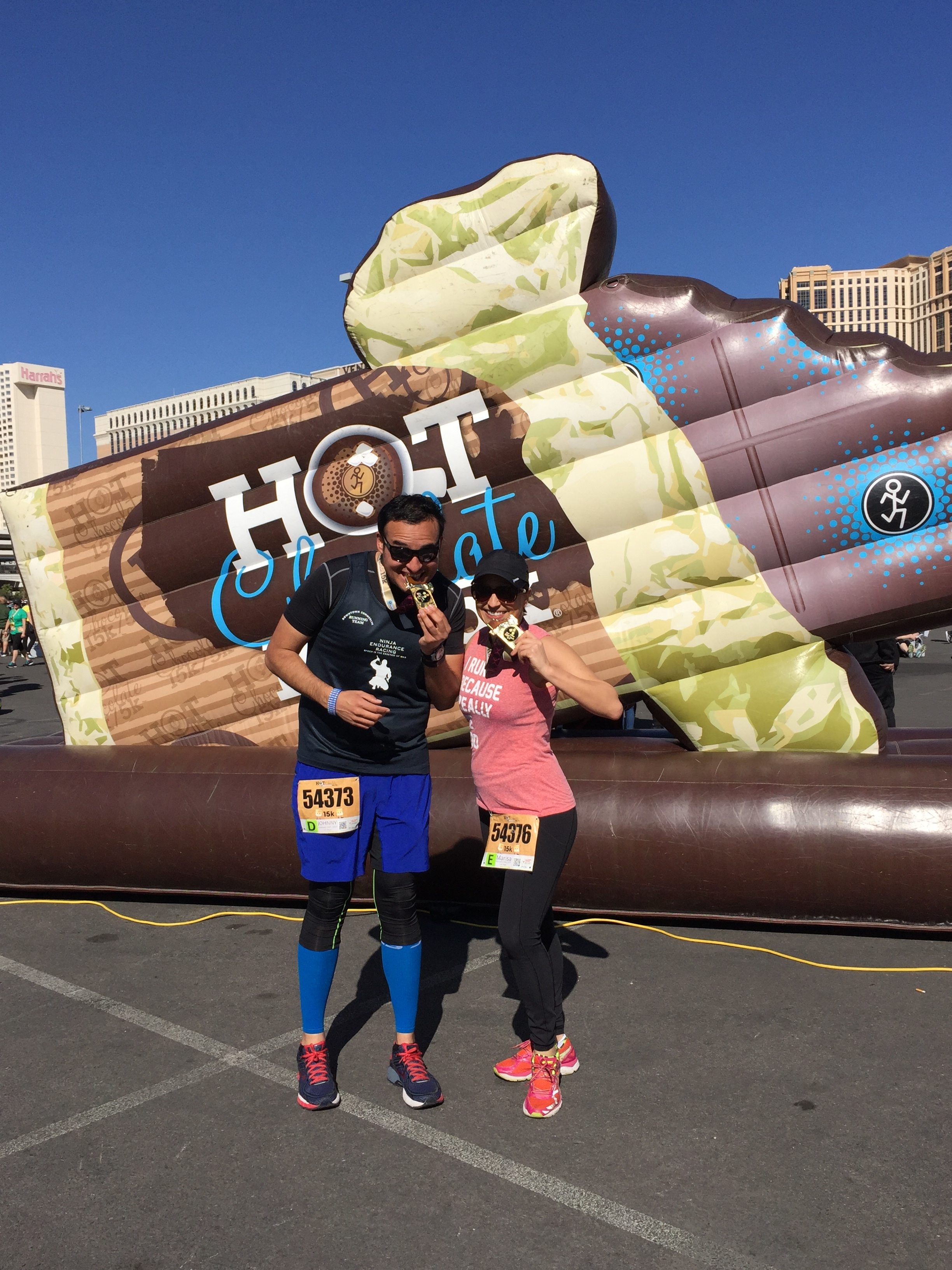 """Running buddies taking a bite out of our """"chocolate bars"""""""
