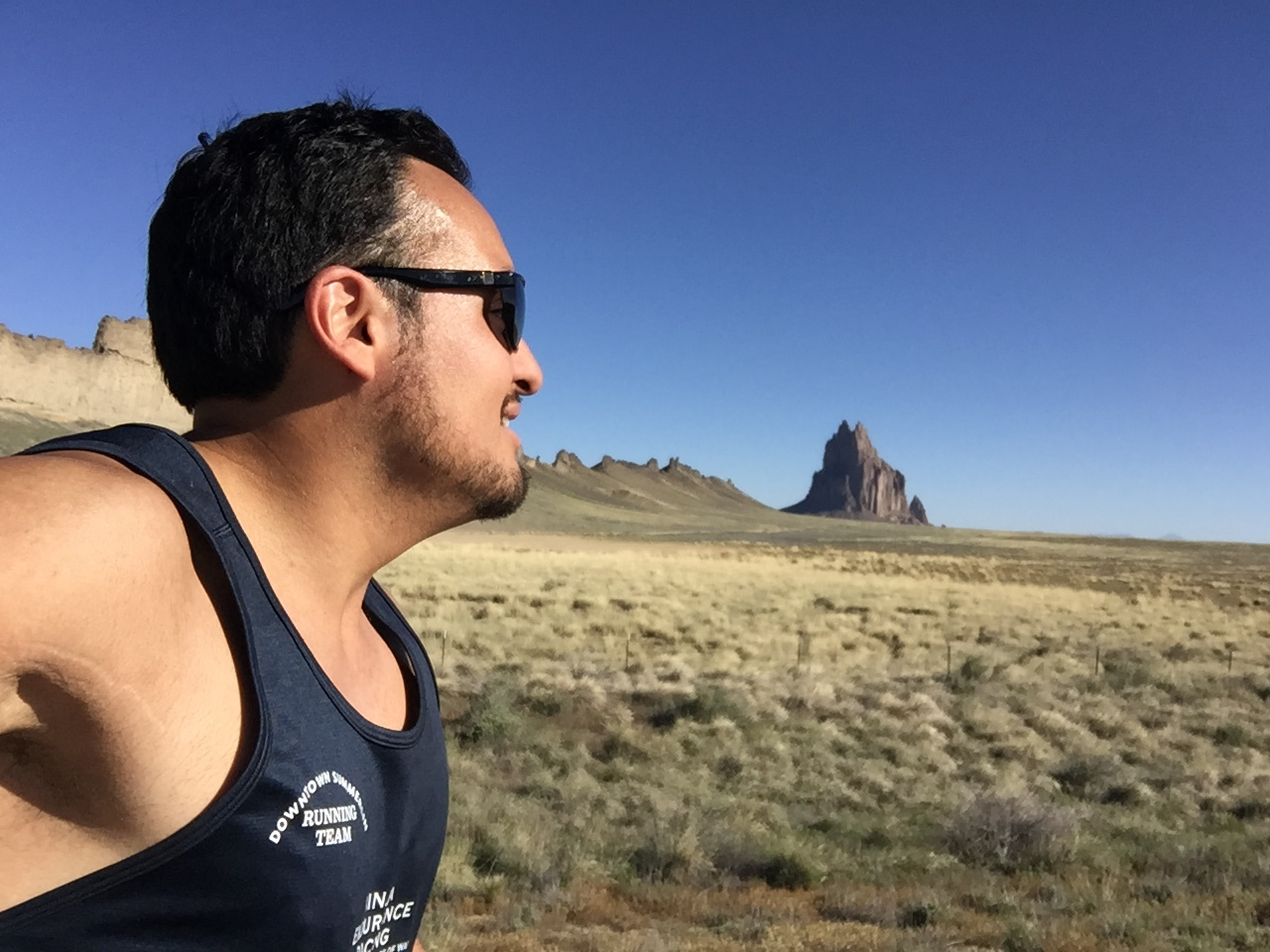 Shiprock in the background