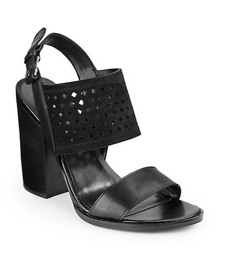 Diviana Laser Cut Leather Sandals