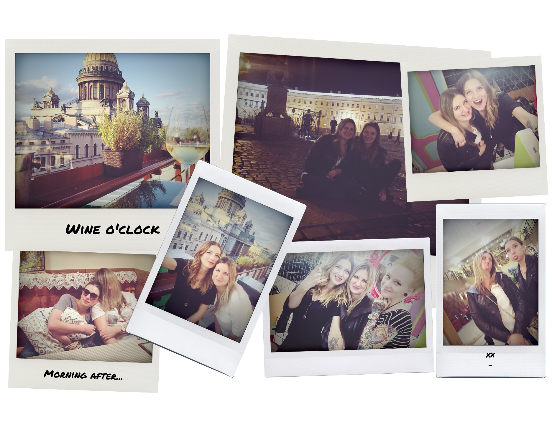 saint petersburg polaroid shots of city fun timnes