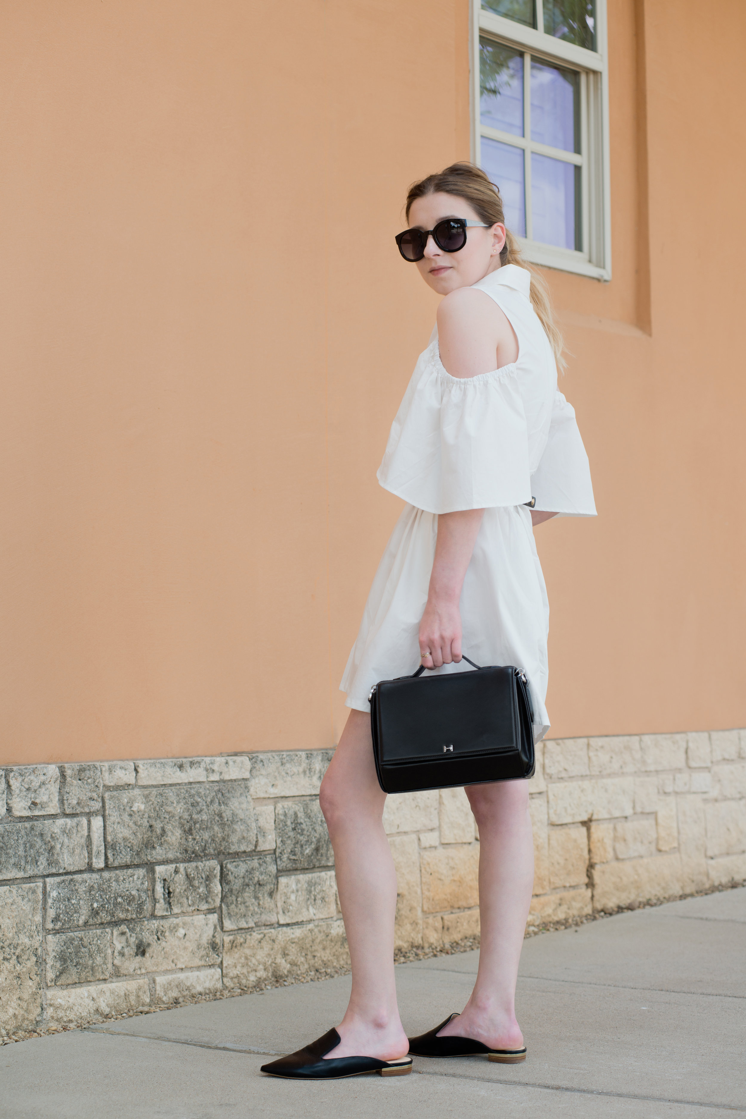 A Perfect Summer Dress - Catherine MalandrinoZito Cold Shoulder Shirtdress