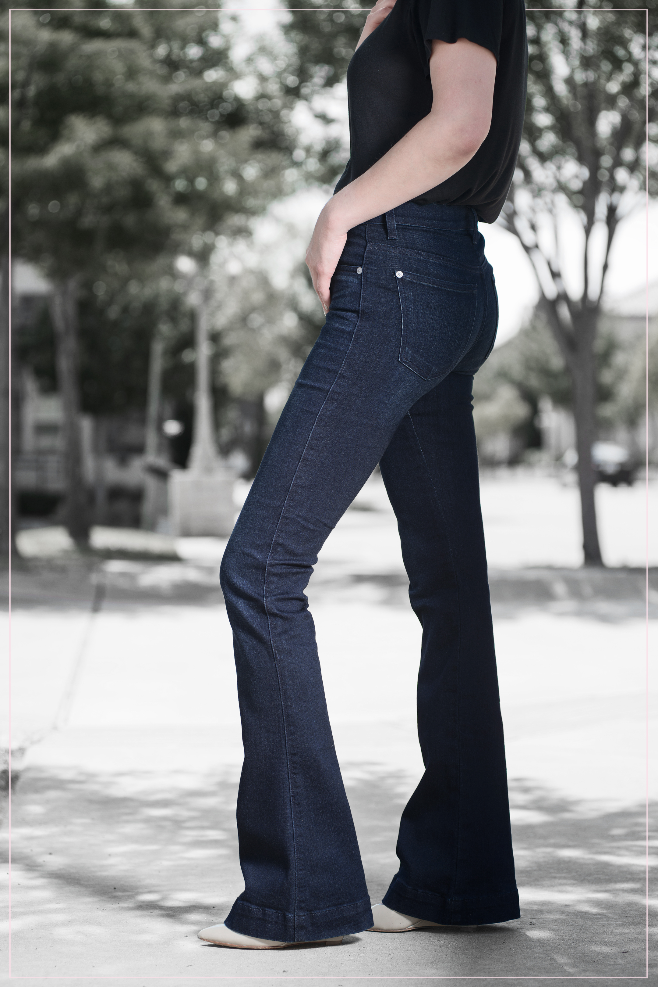 7 FOR ALL MANKIND flared jeans silent imagery prfect fit denim