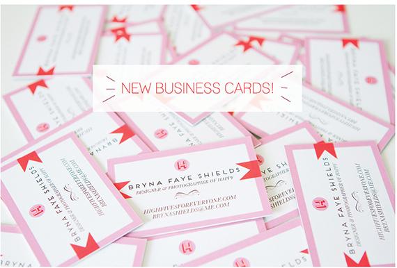 highfivesforeveryone business cards