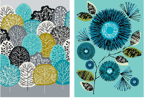 eloise renouf trees and flower giclee print