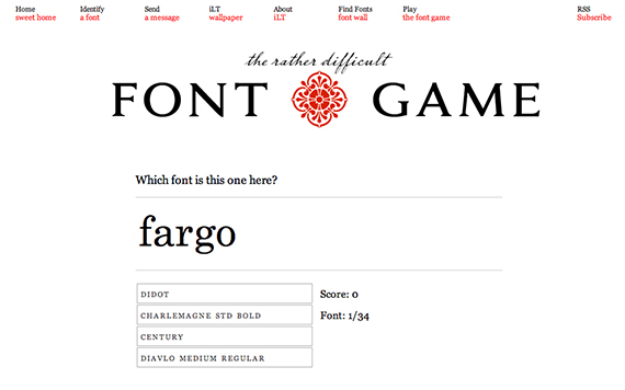 font game