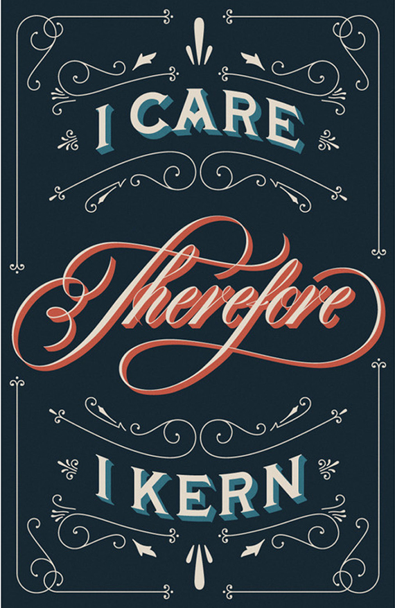 i care therefore i kern poster