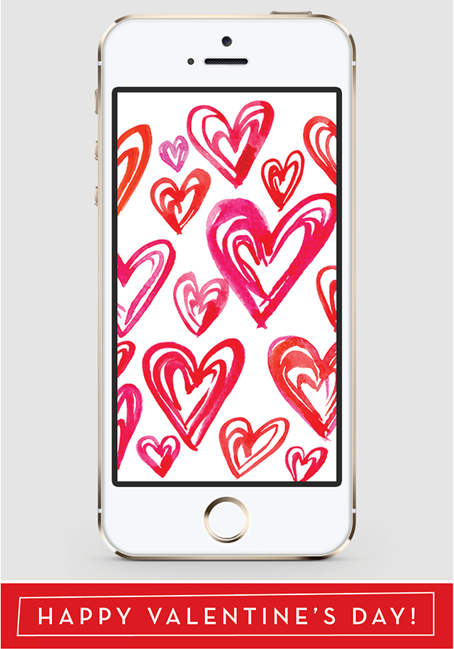 Valentine Hearts iPhone Background | High Fives for Everyone