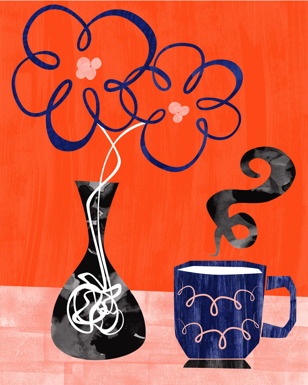 Flowers and Coffee illustration by Bryna Shields