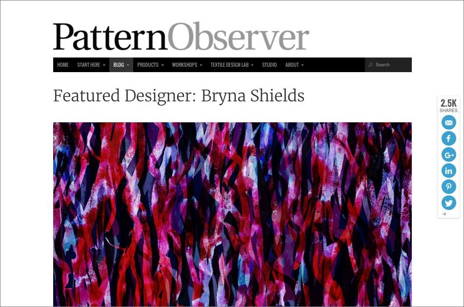 Pattern Observer Featured Designer