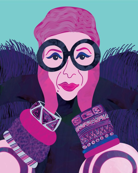 iris apfel illustration