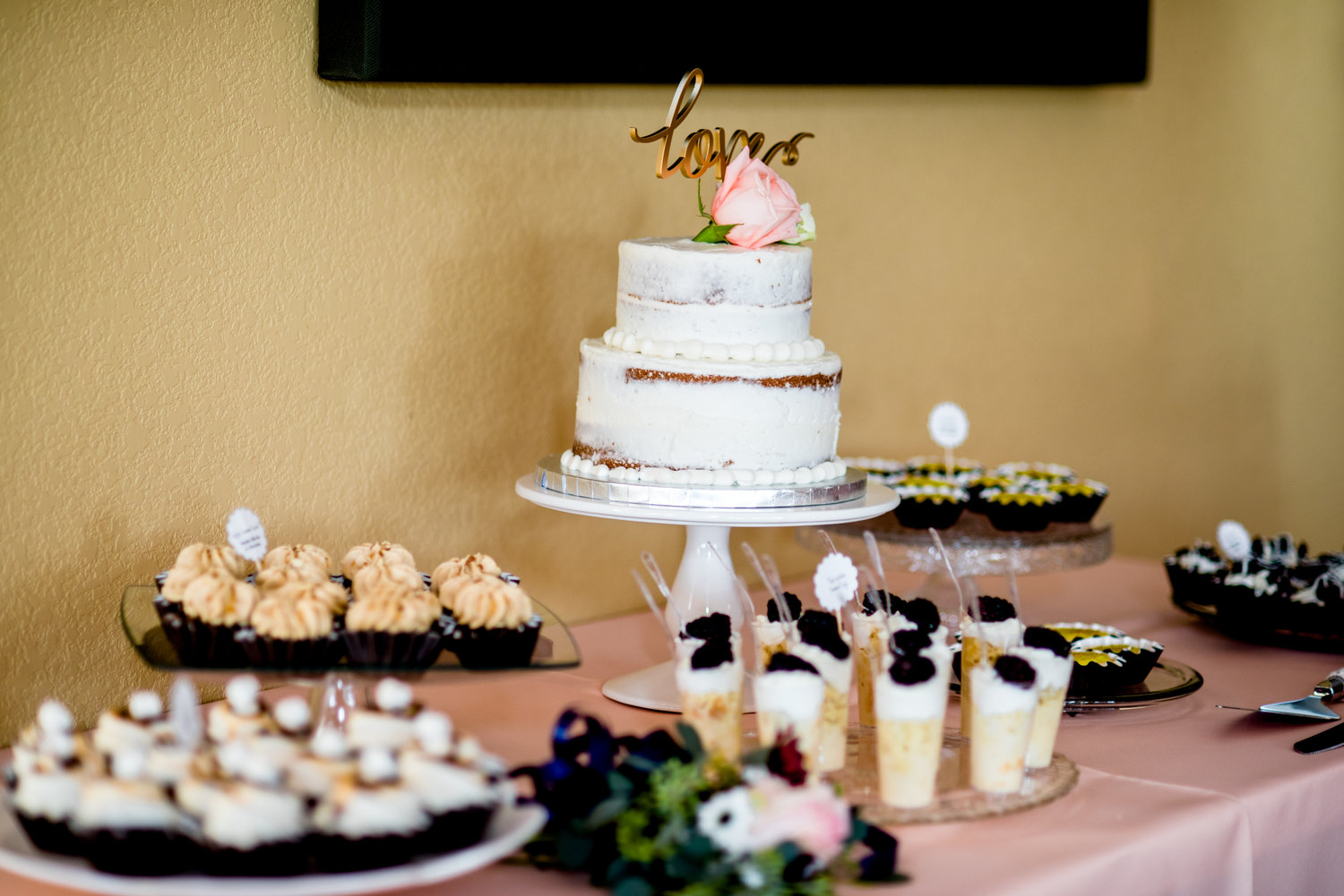 Wedding Cake & Dessert Buffet