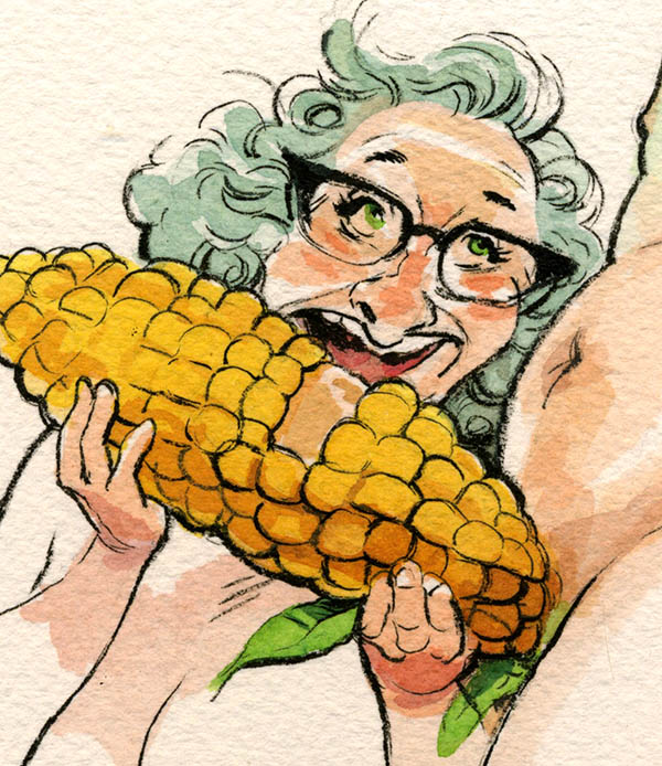 "Detail of ""Slob on my Cob"""