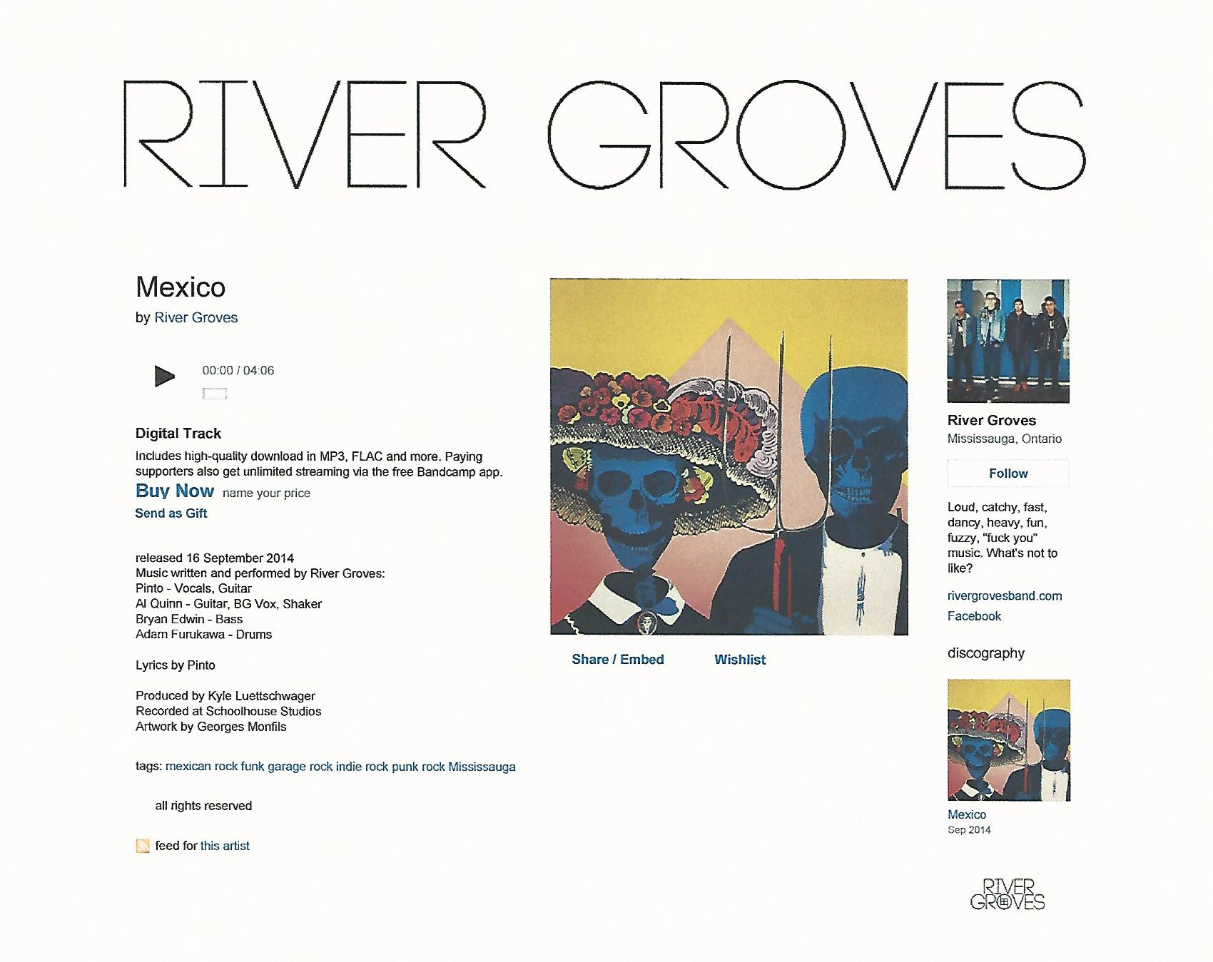 """""""Mexican Gothic"""" used as Cover Art for River Groves' single """"Mexico"""""""