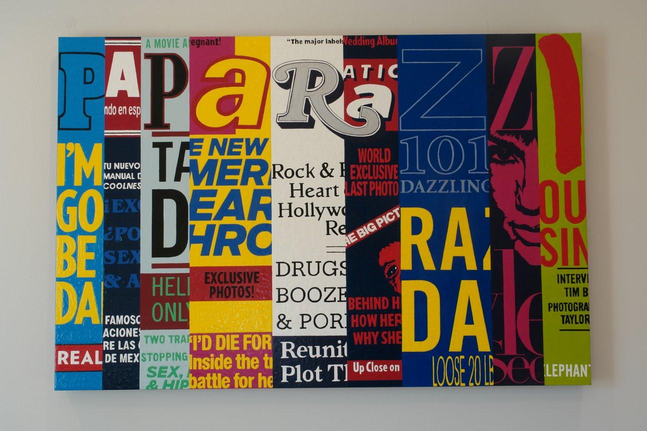 """Paparazzi"" acrylic on canvas"