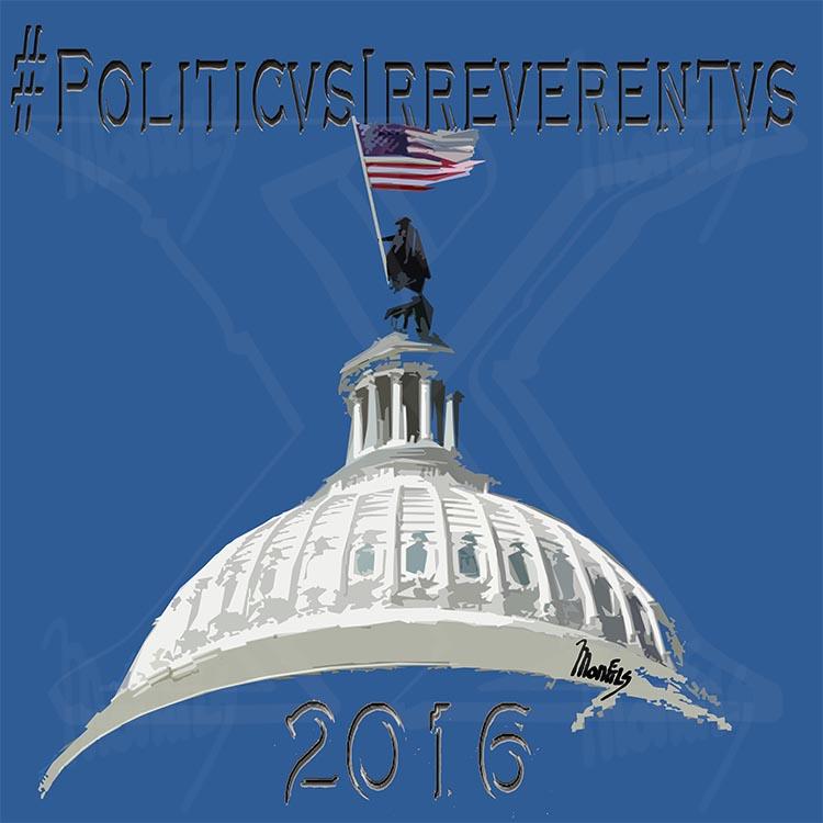 """""""#PoliticusIrreverentus"""" Design for upcoming Political satire Cartoons"""