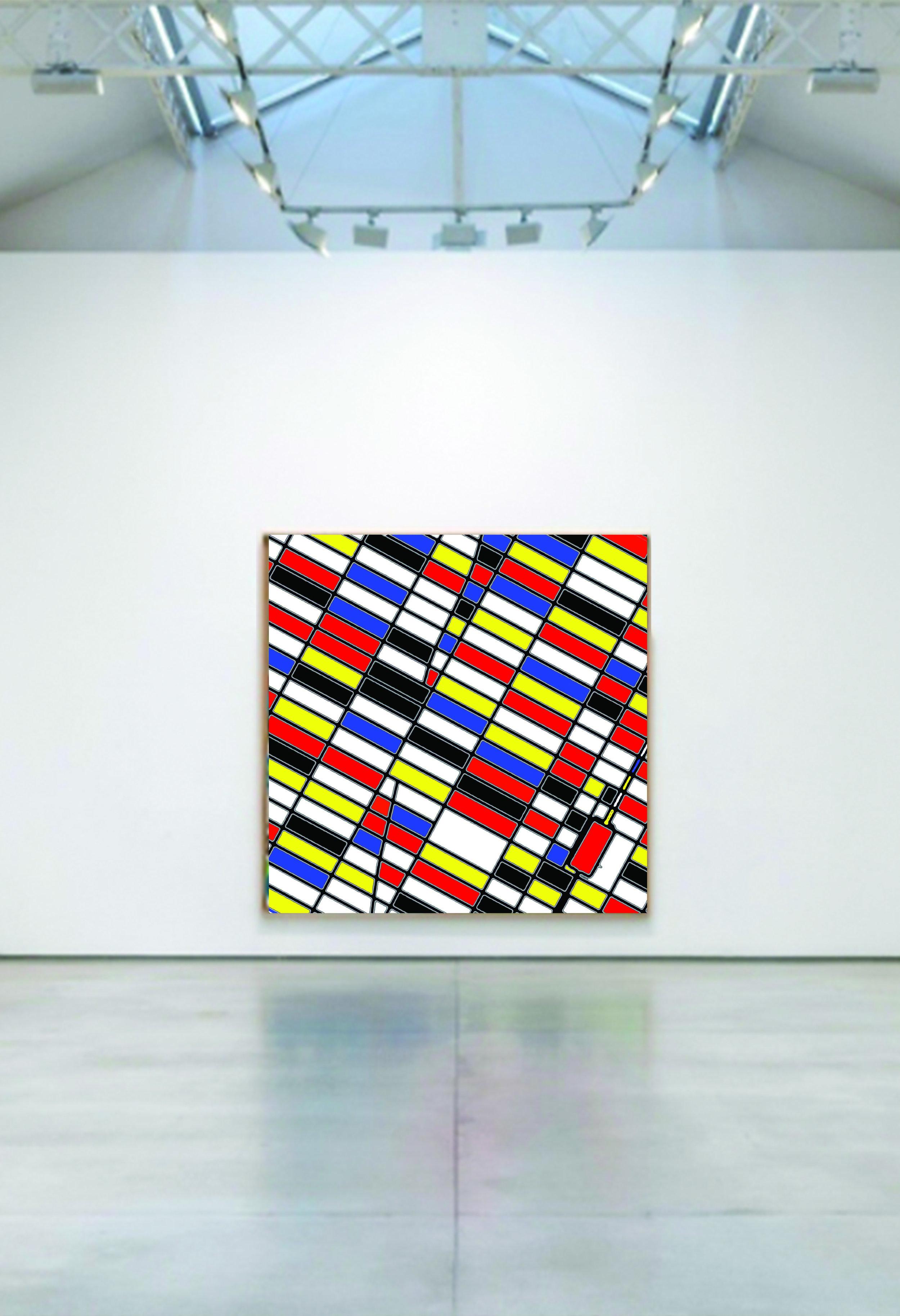 "96"" x 96"" x 2.5"" NYC?Mondrian frame"