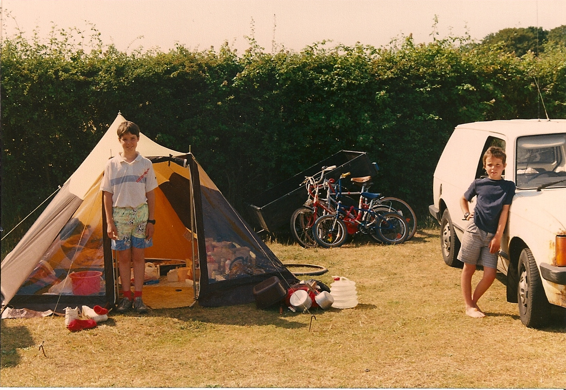 Author family camp roughly 1990