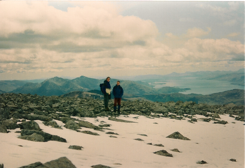 Author on top of Ben Nevis around 1992