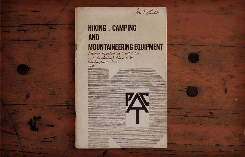 PATC - Hiking, Camping and Mountaineering Equipment, 1960