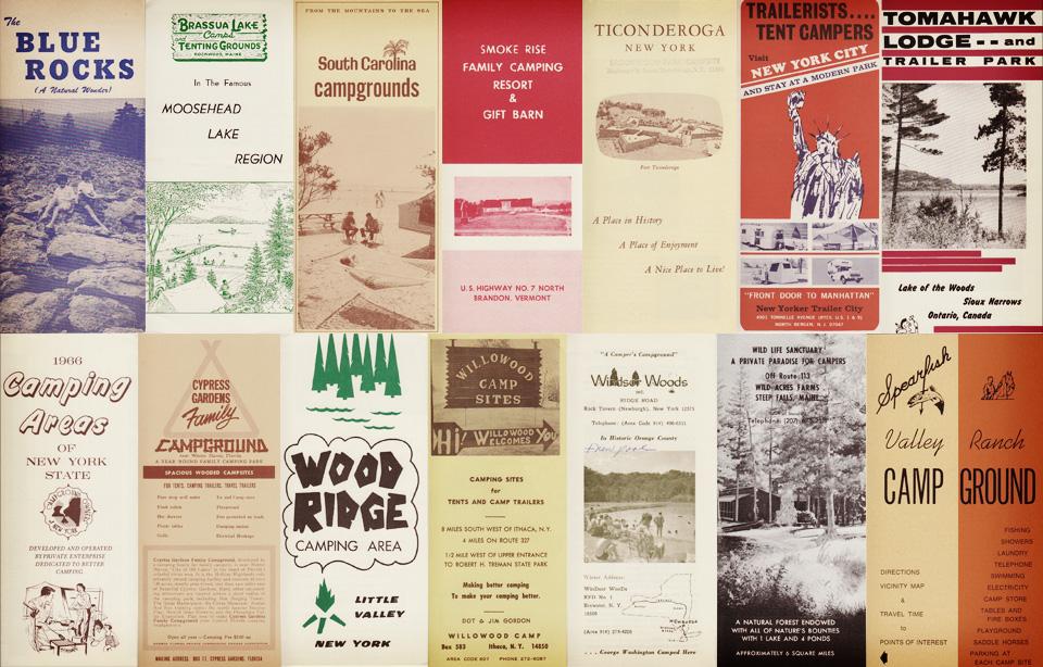 Vintage Campsite Brochures