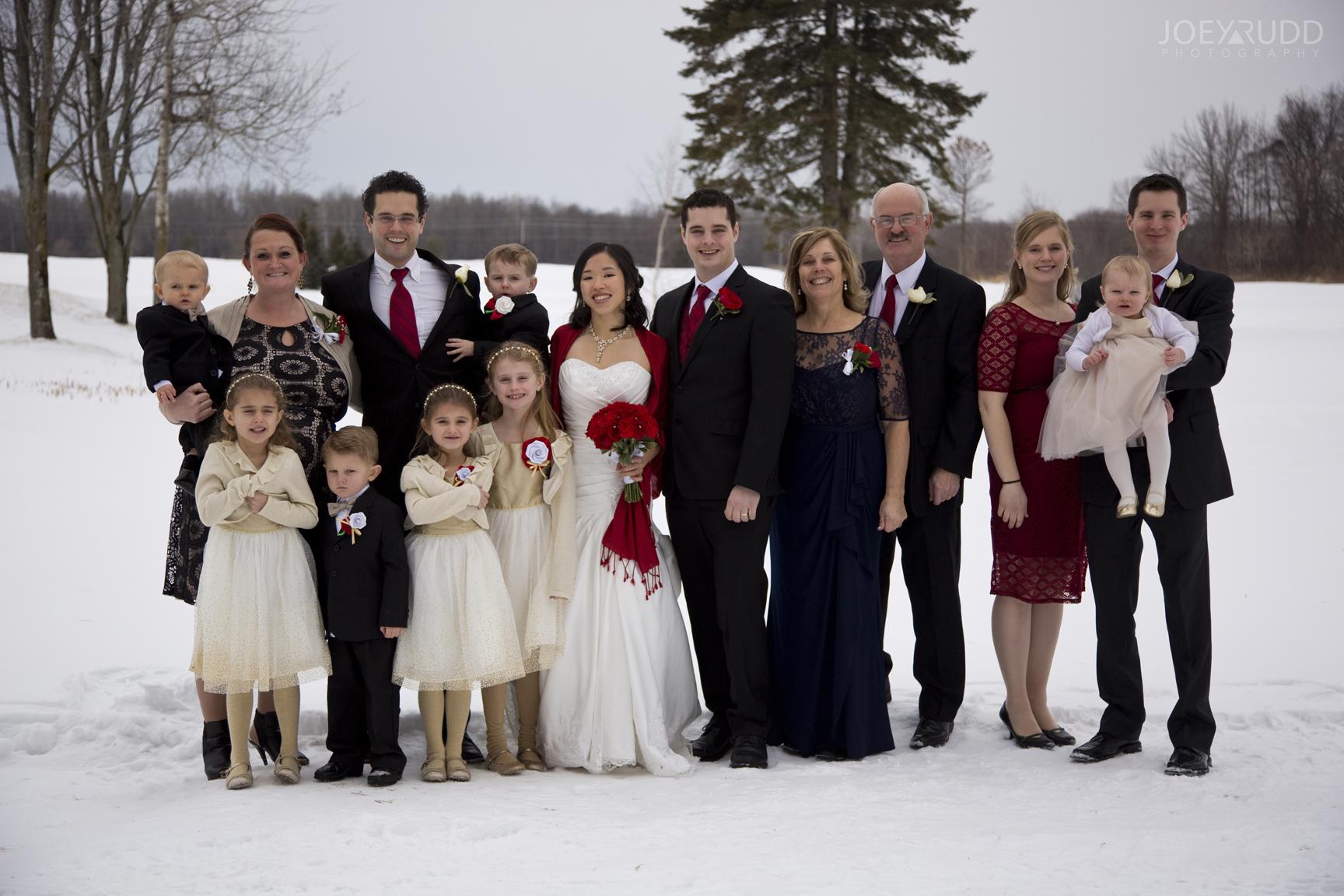 Winter Family Wedding Photographer