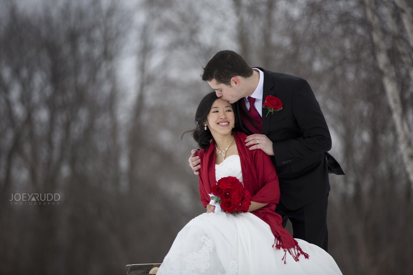 Winter Wedding Kiss Ottawa