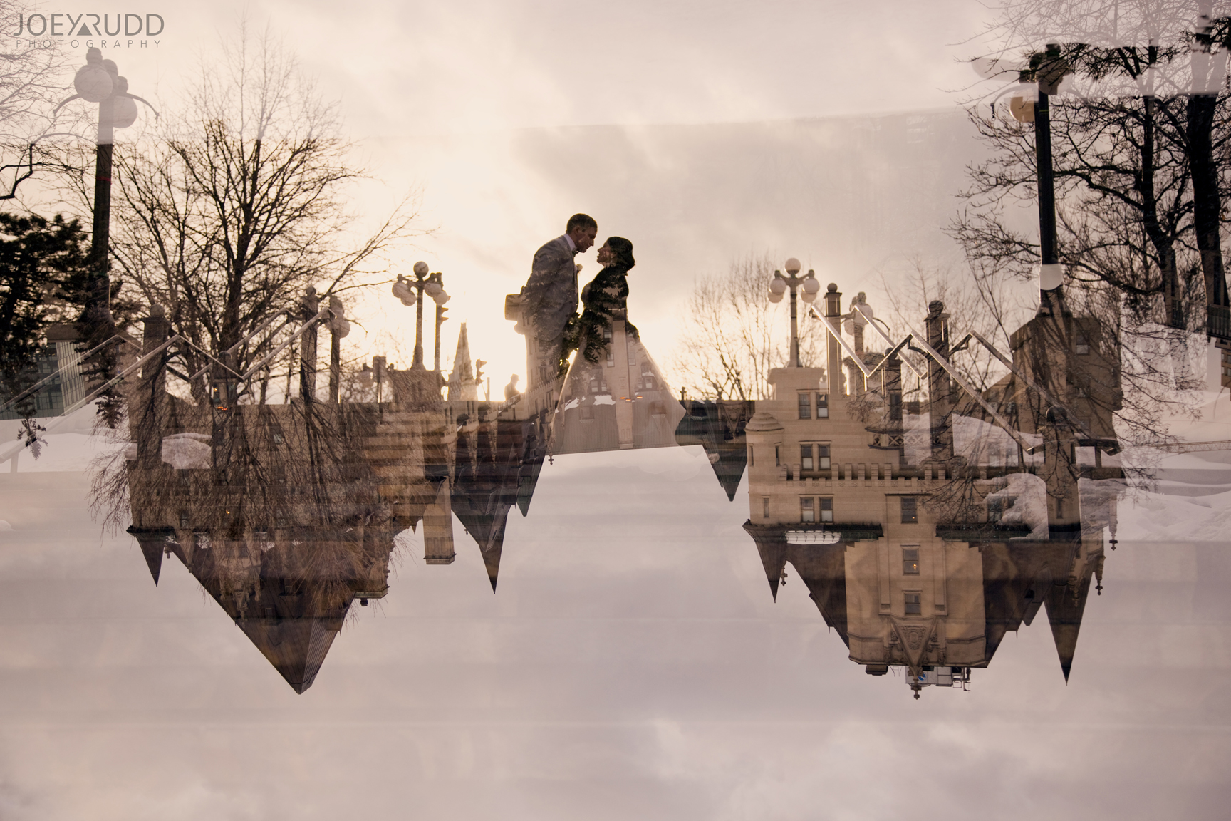 Double Exposure Photo by Joey Rudd Photography Award Winning Ottawa Wedding Photographer Downtown Ottawa Wedding Byward Market