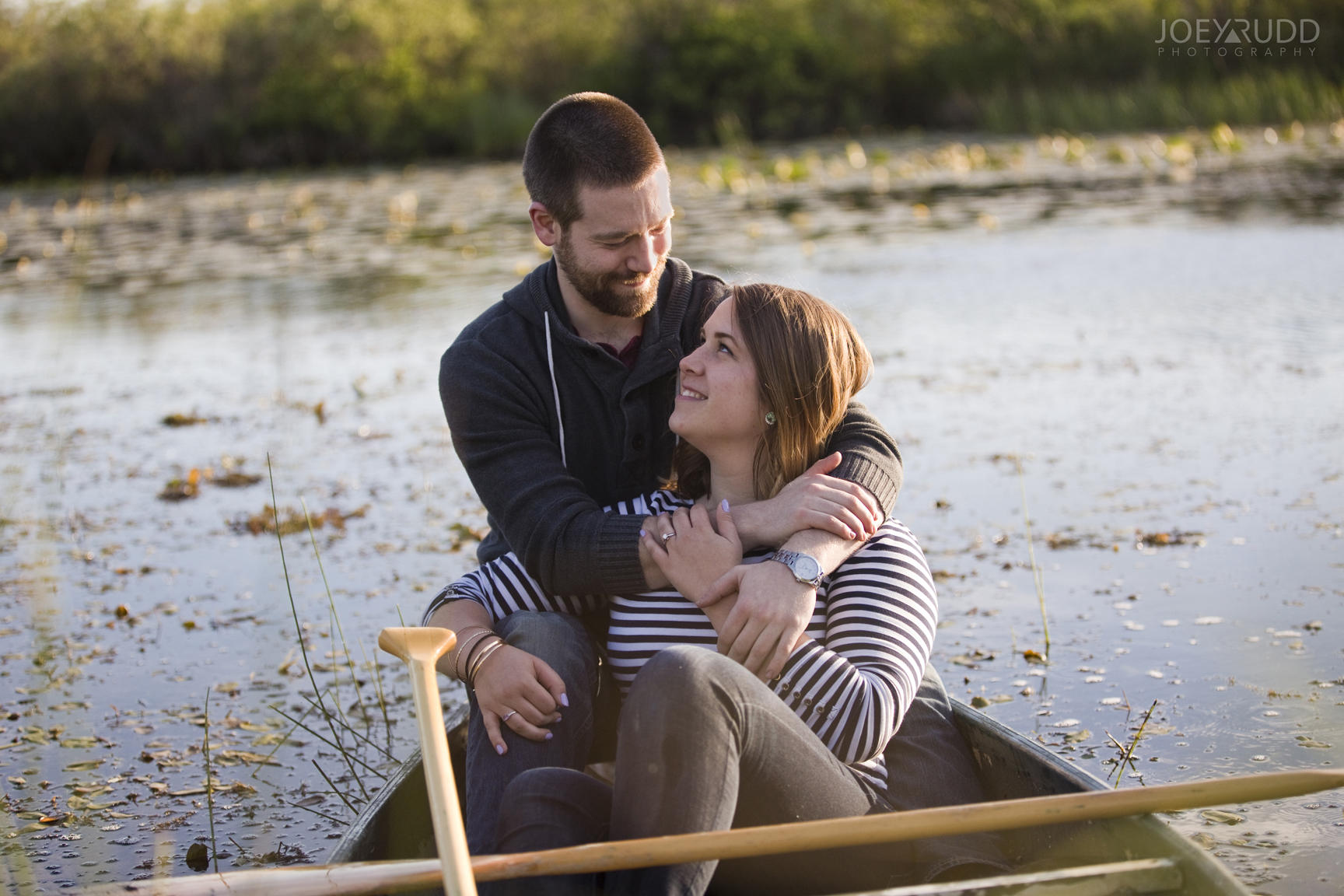 Rustic Engagement by Ottawa Wedding Photographer Joey Rudd Photography Canoe Candid