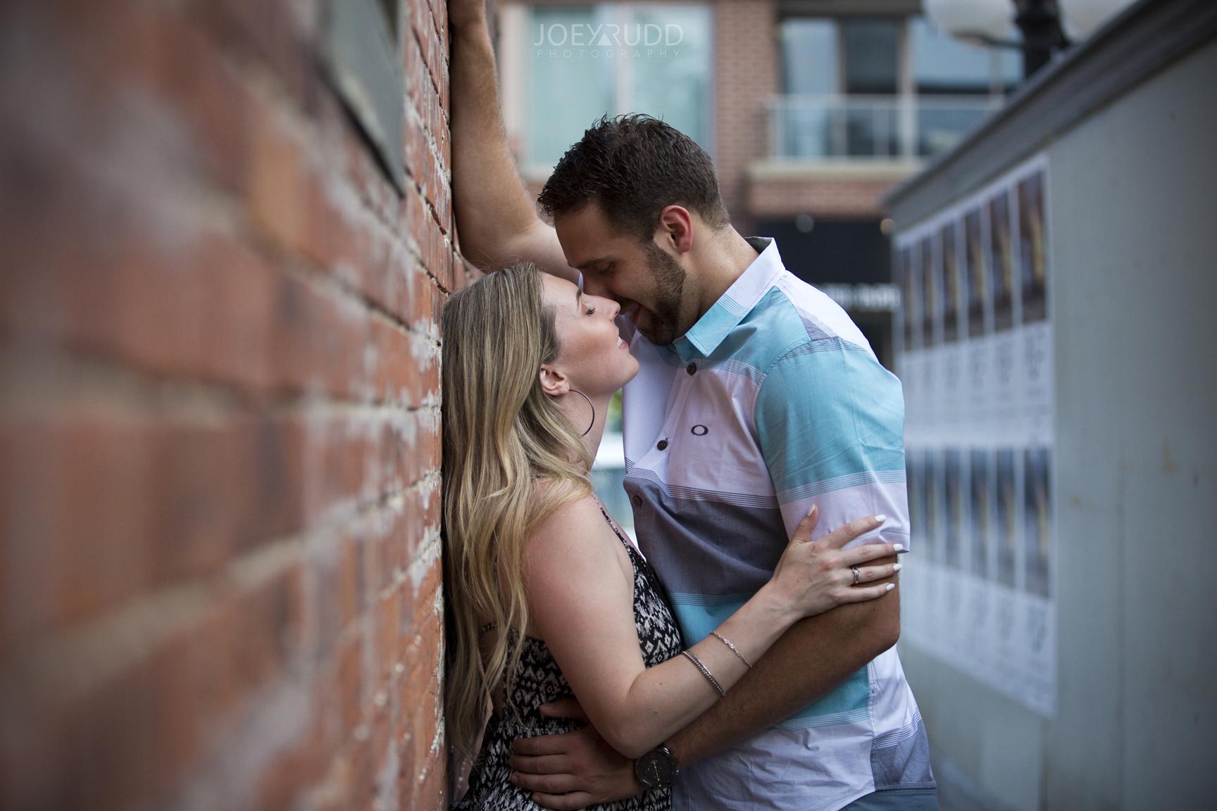 Joey Rudd Photography Ottawa Wedding Photographer Engagement Downtown Kissing Photo