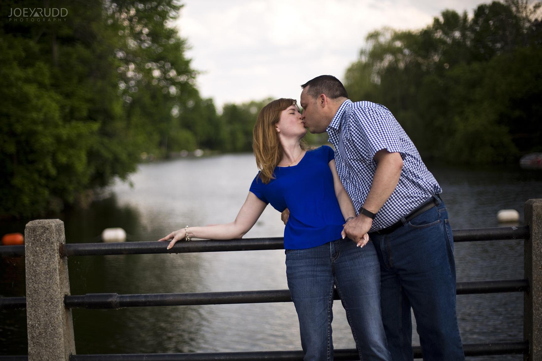 Manotick Engagement by Ottawa Wedding Photographer Joey Rudd Photography at Watsons Mill Bridge Water