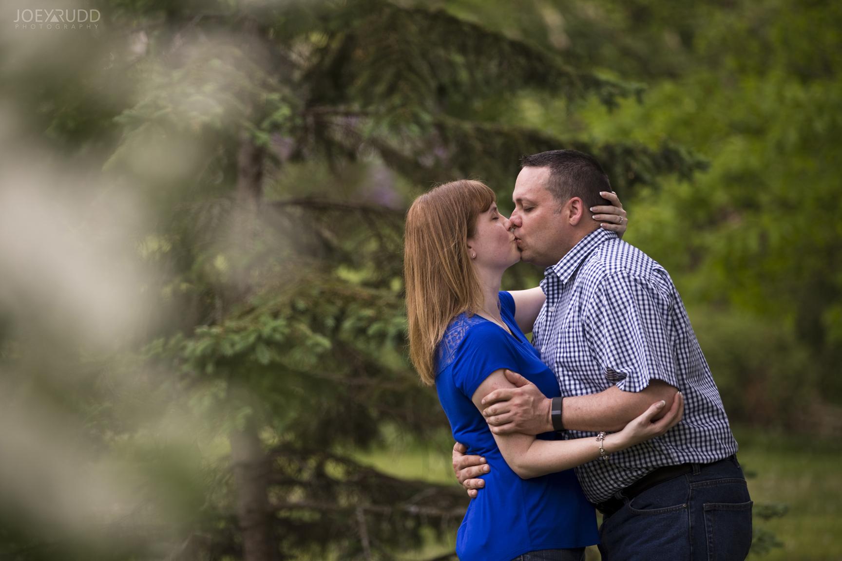 Manotick Engagement by Ottawa Wedding Photographer Joey Rudd Photography at Watsons Mill Kiss