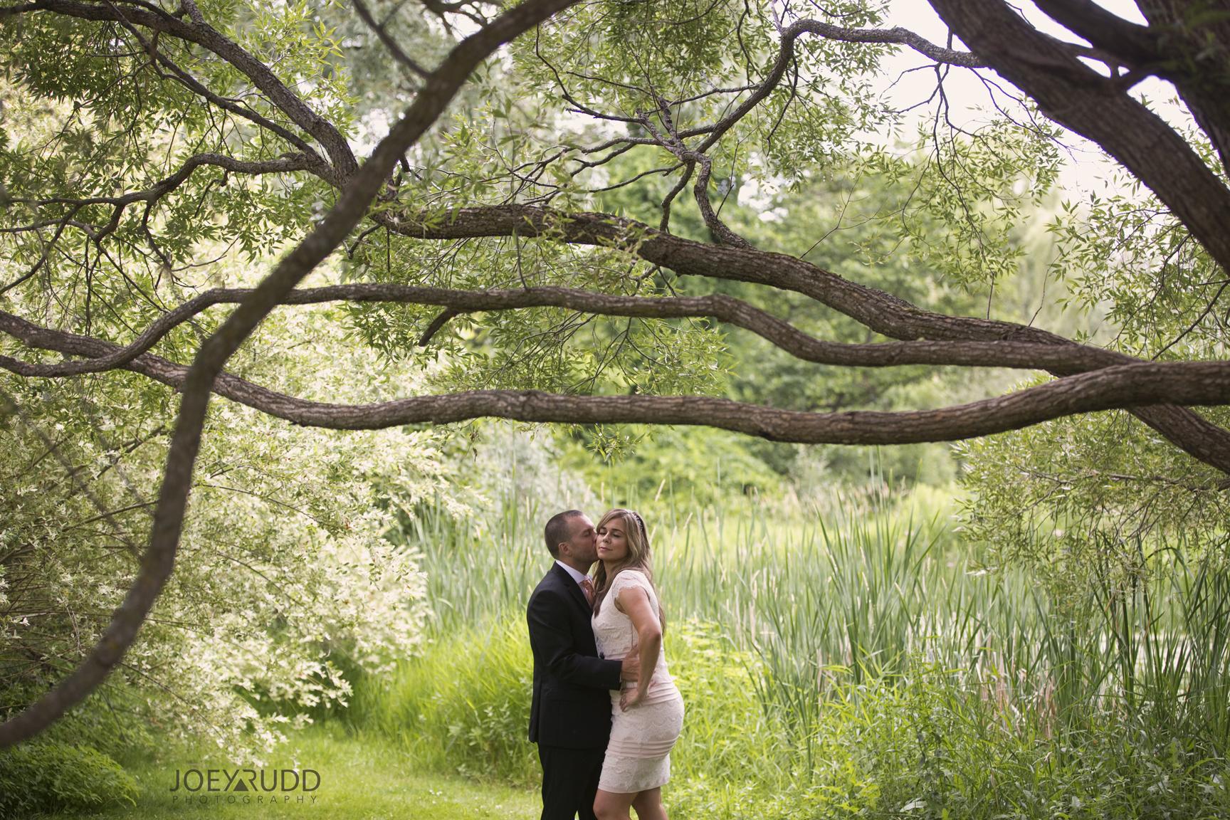 Elopement Wedding by Ottawa Wedding Photographer Joey Rudd Photography Arboretum Trees Hug