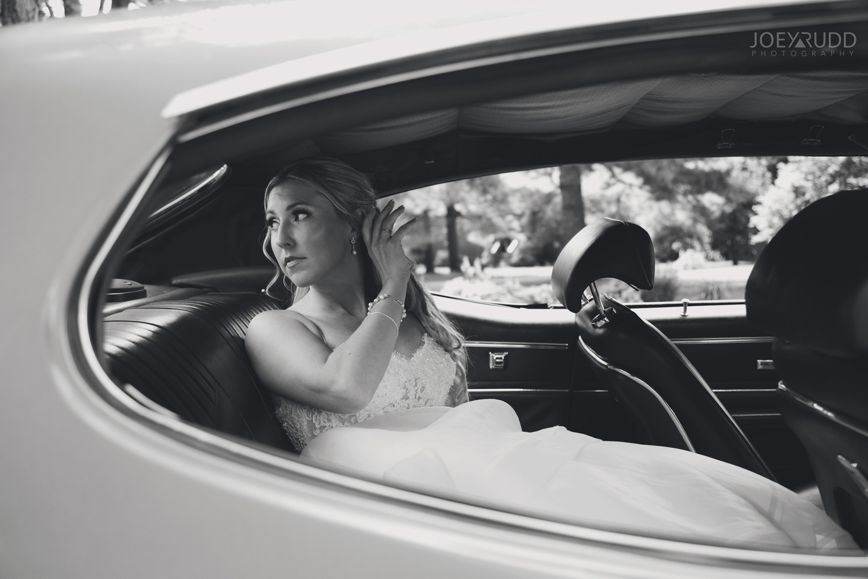 Calabogie Wedding at Barnet Park by Ottawa Wedding Photographer Joey Rudd Photography Car
