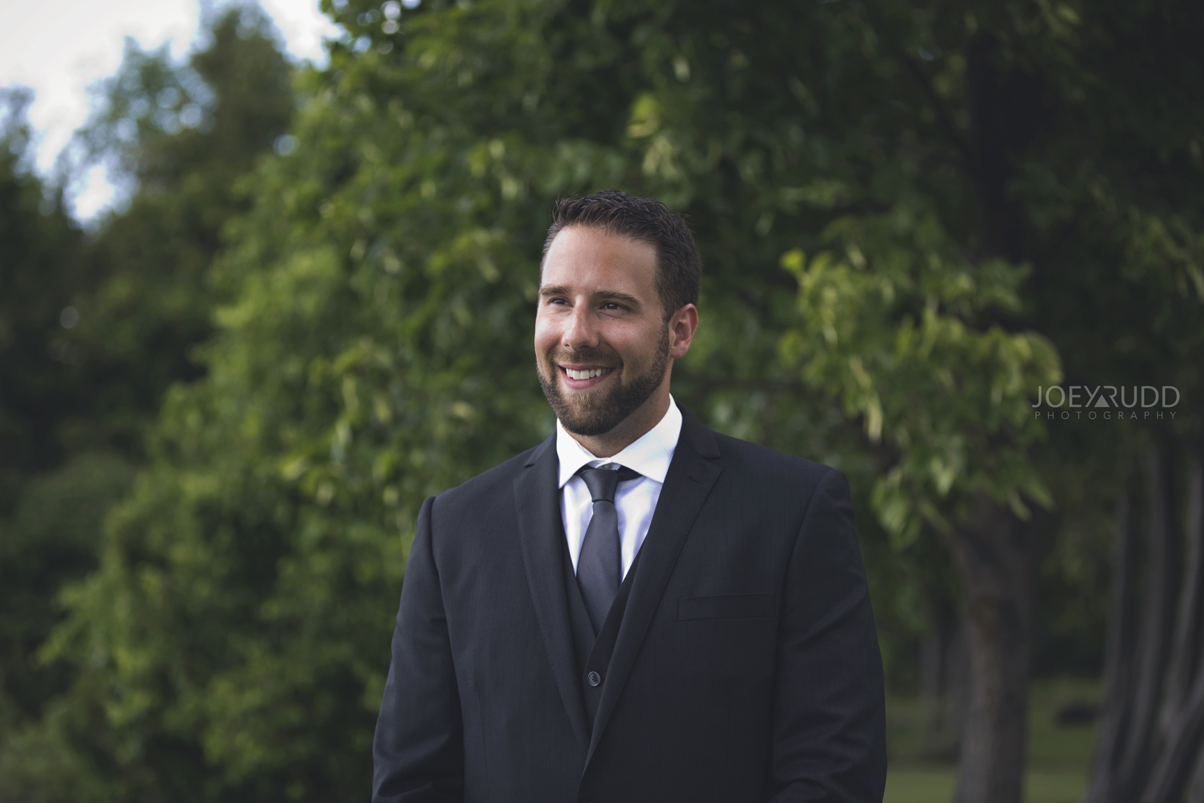 Calabogie Wedding at Barnet Park by Ottawa Wedding Photographer Joey Rudd Photography First Look Groom