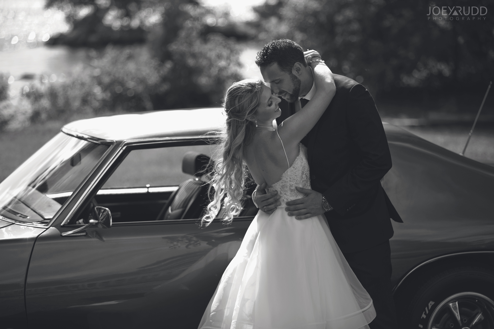 Calabogie Wedding at Barnet Park by Ottawa Wedding Photographer Joey Rudd Photography Vintage Car