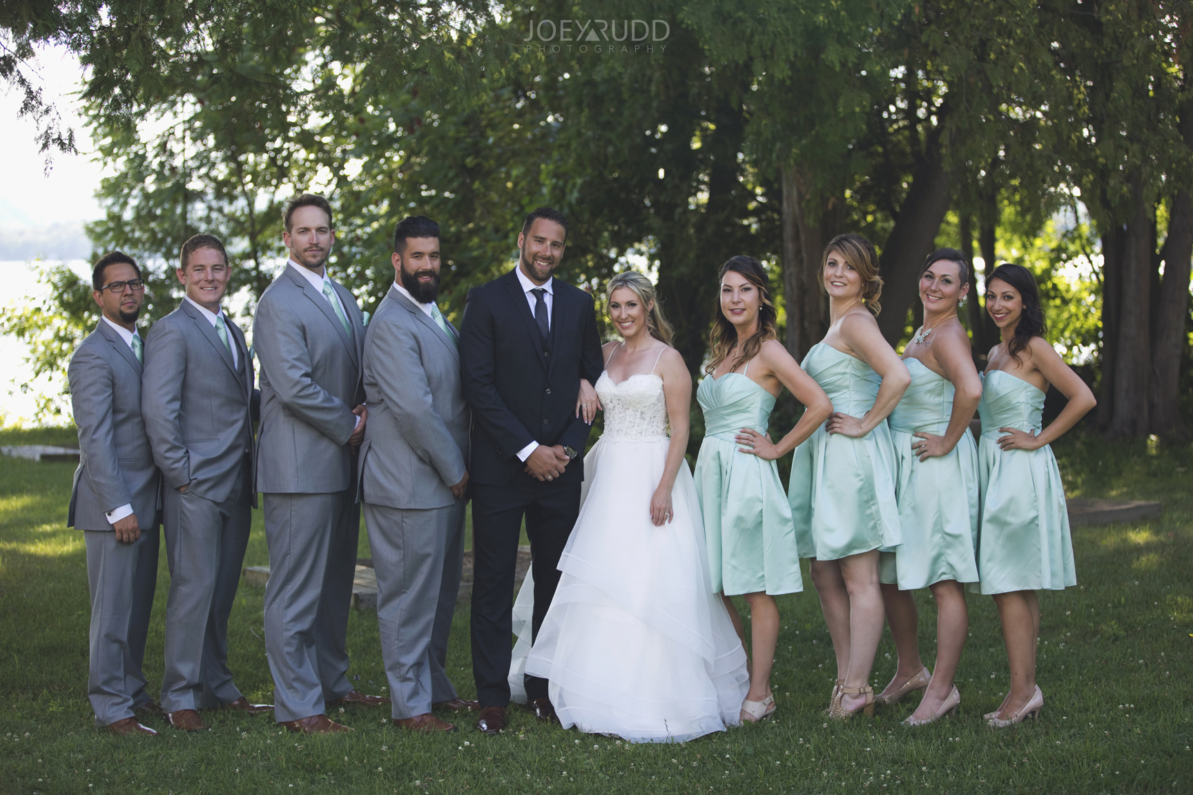 Calabogie Wedding at Barnet Park by Ottawa Wedding Photographer Joey Rudd Photography Wedding Party