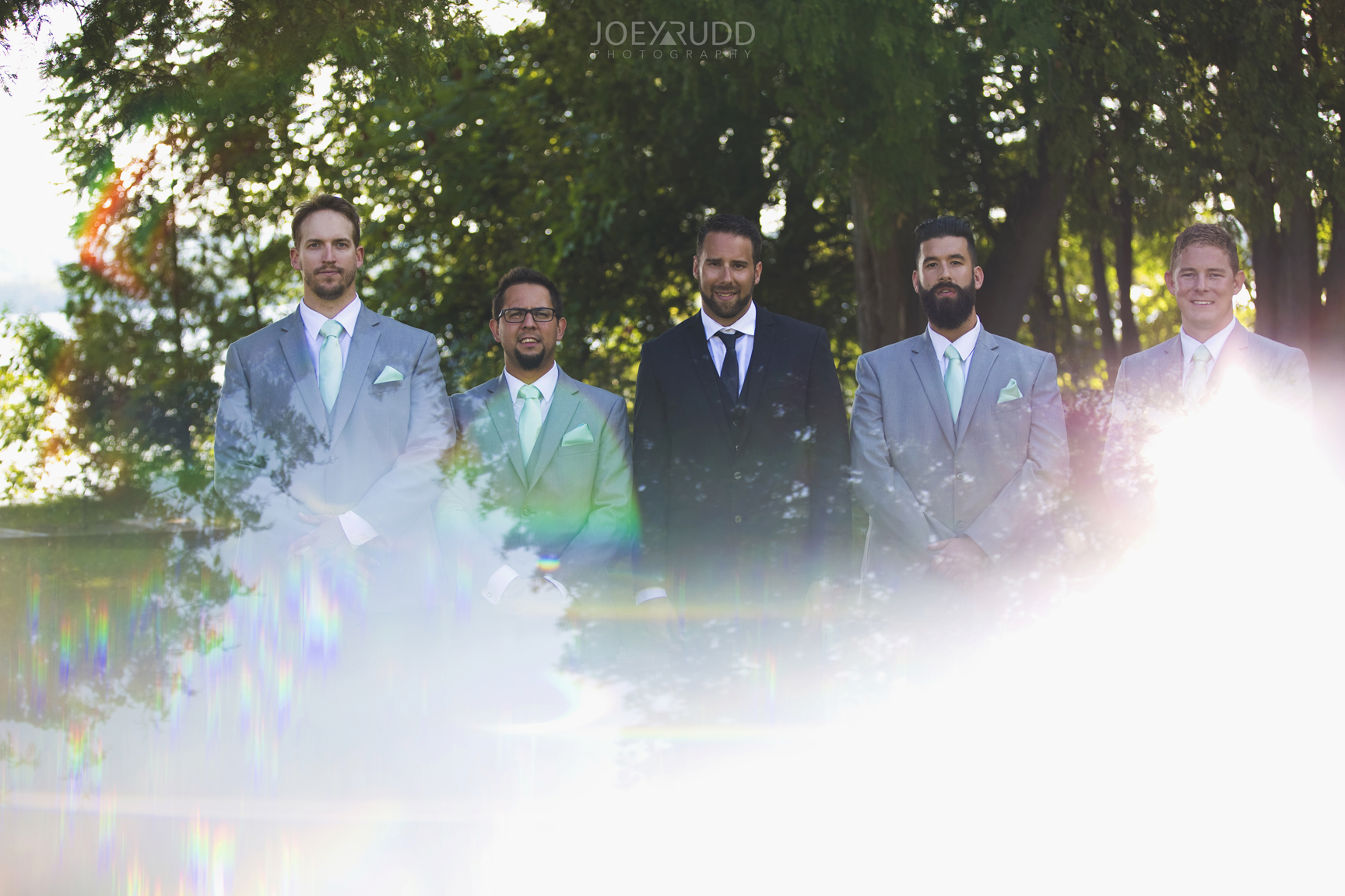 Calabogie Wedding at Barnet Park by Ottawa Wedding Photographer Joey Rudd Photography Wedding Party Groomsmen Prisming