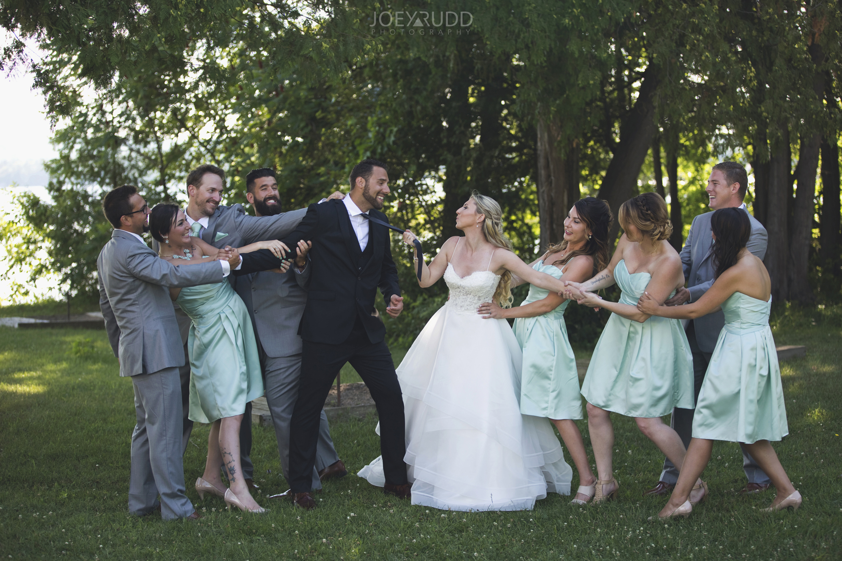 Calabogie Wedding at Barnet Park by Ottawa Wedding Photographer Joey Rudd Photography Fun and Creative Wedding Party Photo