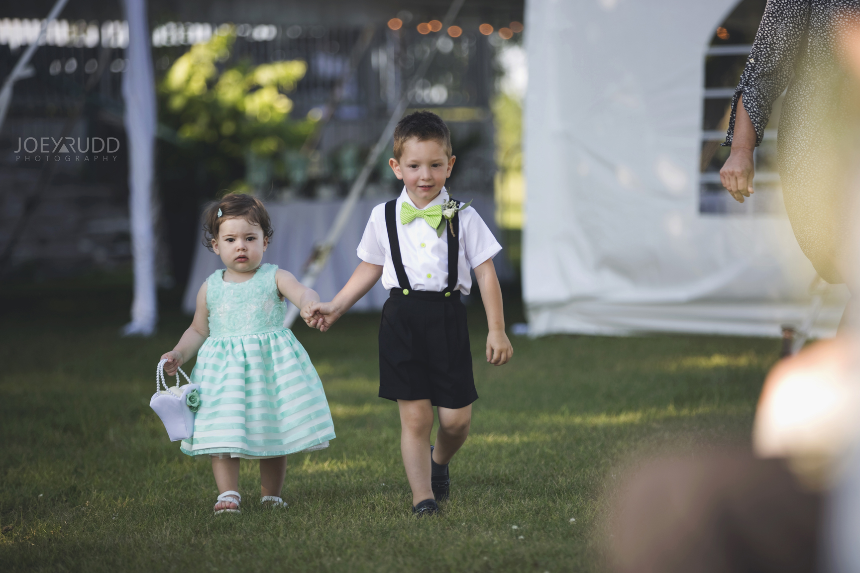 Calabogie Wedding at Barnet Park by Ottawa Wedding Photographer Joey Rudd Photography Cute Flower Girl and Ringbearer