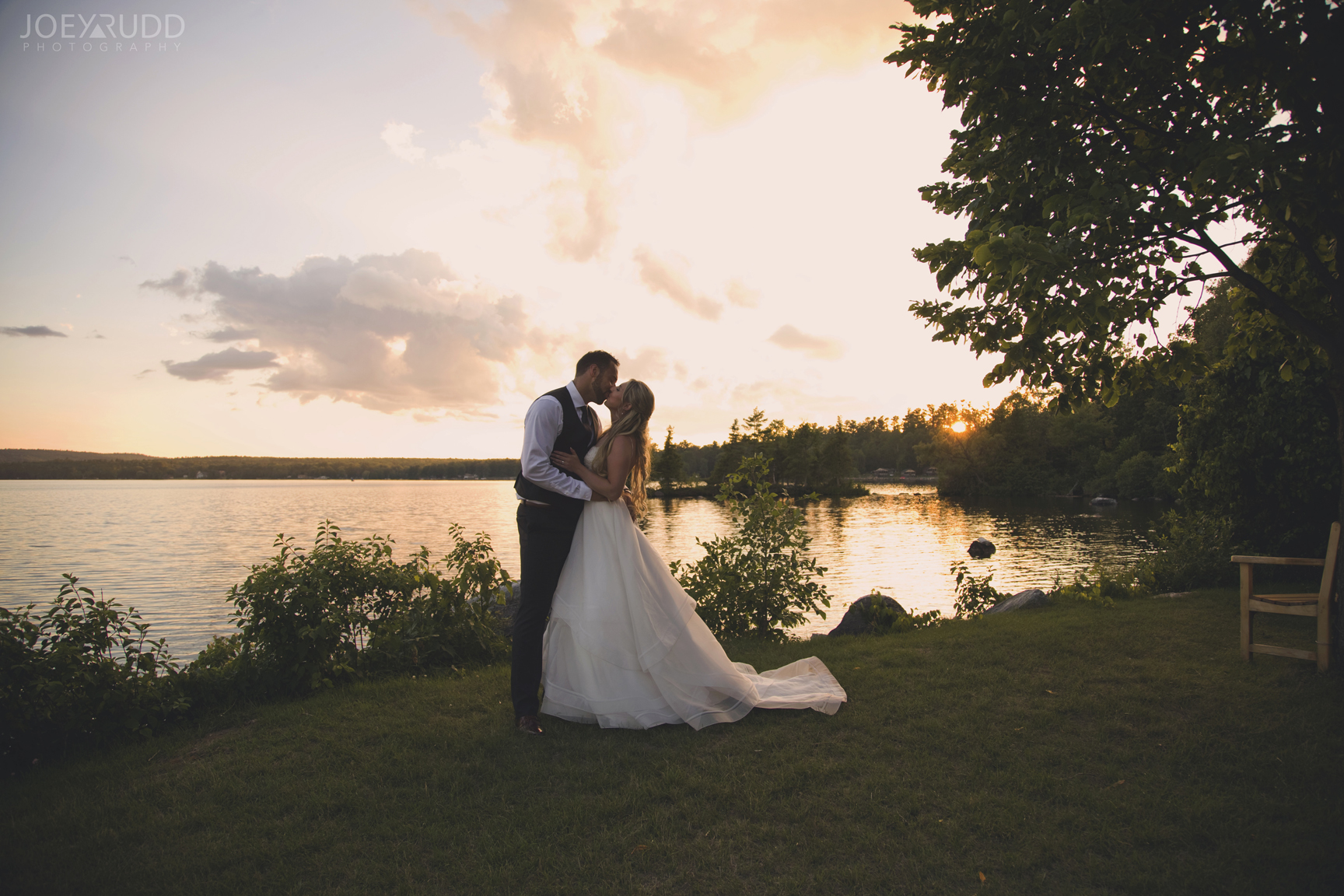 Calabogie Wedding at Barnet Park by Ottawa Wedding Photographer Joey Rudd Photography Sunset Portrait