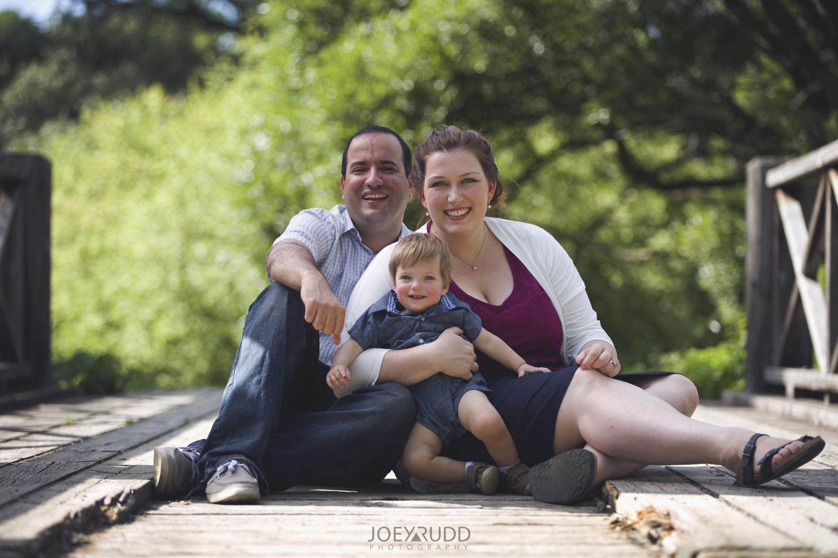 Ottawa Family Photographer Joey Rudd Photography Arboretum Family on Bridge in Ottawa