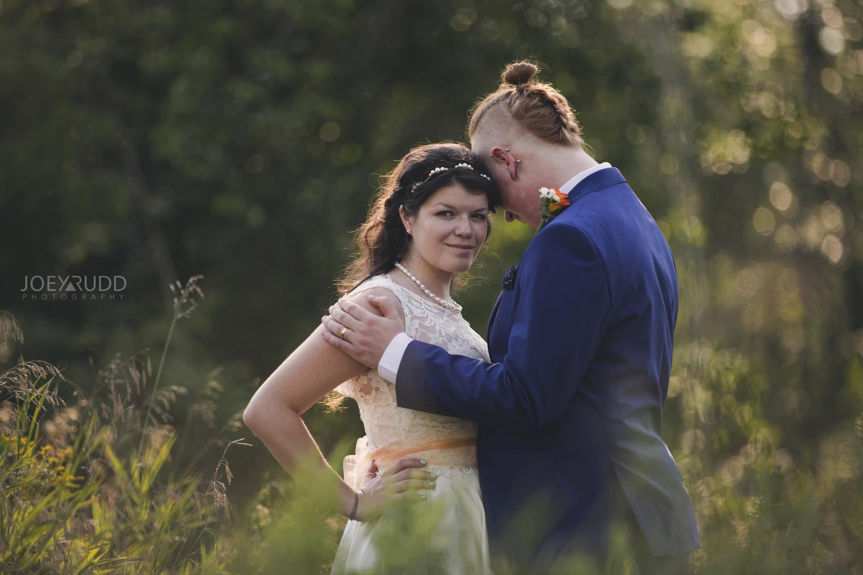 Backyard Kingston Wedding by Ottawa Wedding Photographer Joey Rudd Photography Bride and Groom Pose