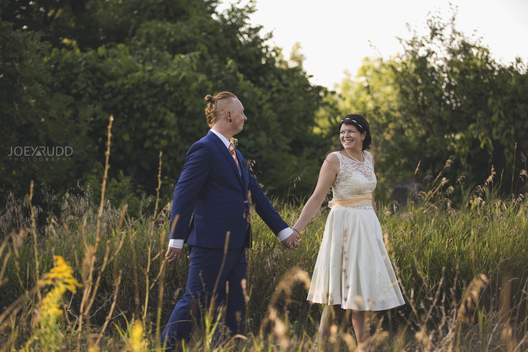 Backyard Kingston Wedding by Ottawa Wedding Photographer Joey Rudd Photography Walking Exploring