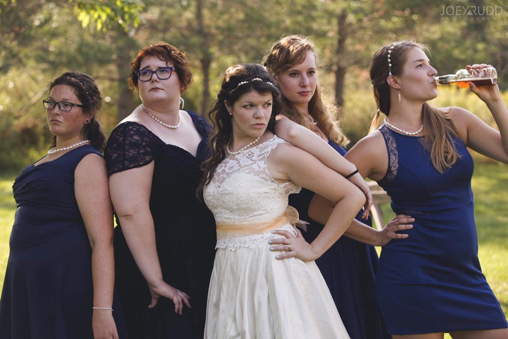Backyard Kingston Wedding by Ottawa Wedding Photographer Joey Rudd Photography Creative Bridesmaid Pose