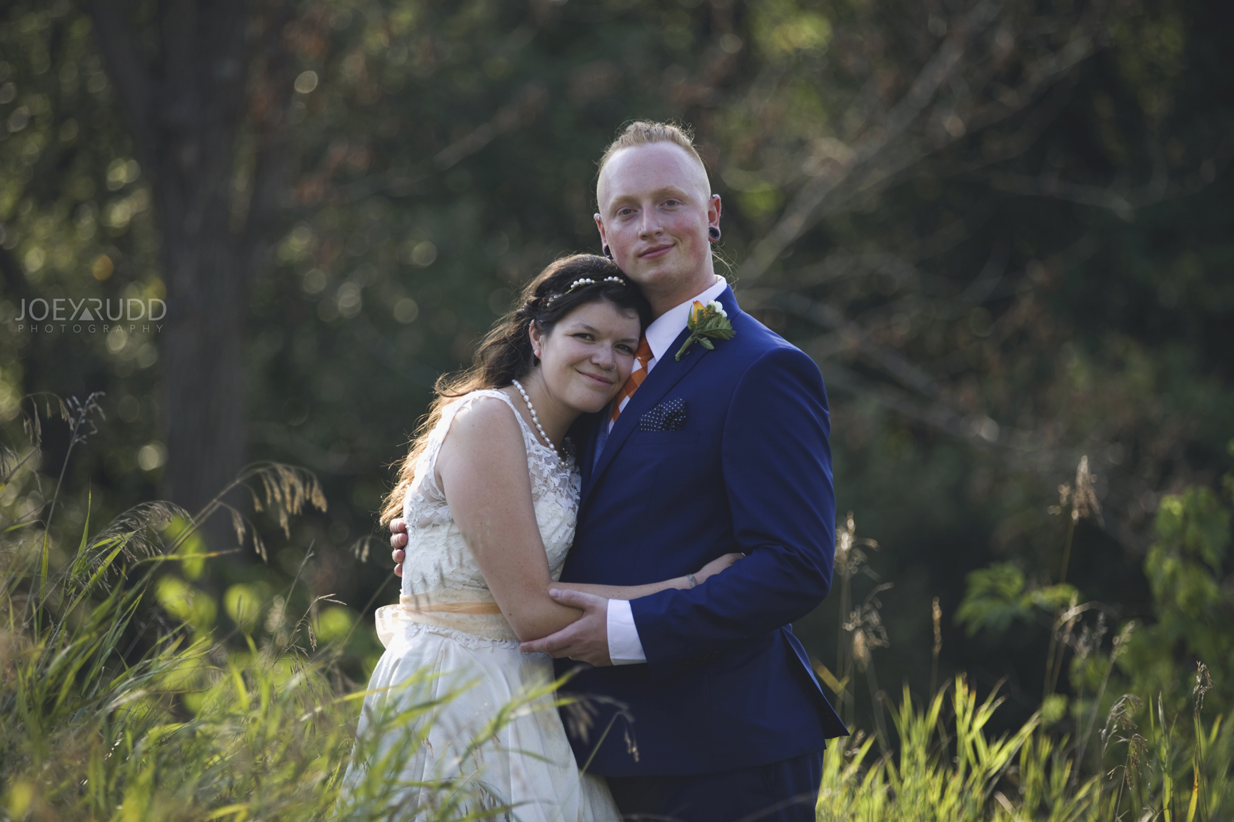 Backyard Kingston Wedding by Ottawa Wedding Photographer Joey Rudd Photography Portrait
