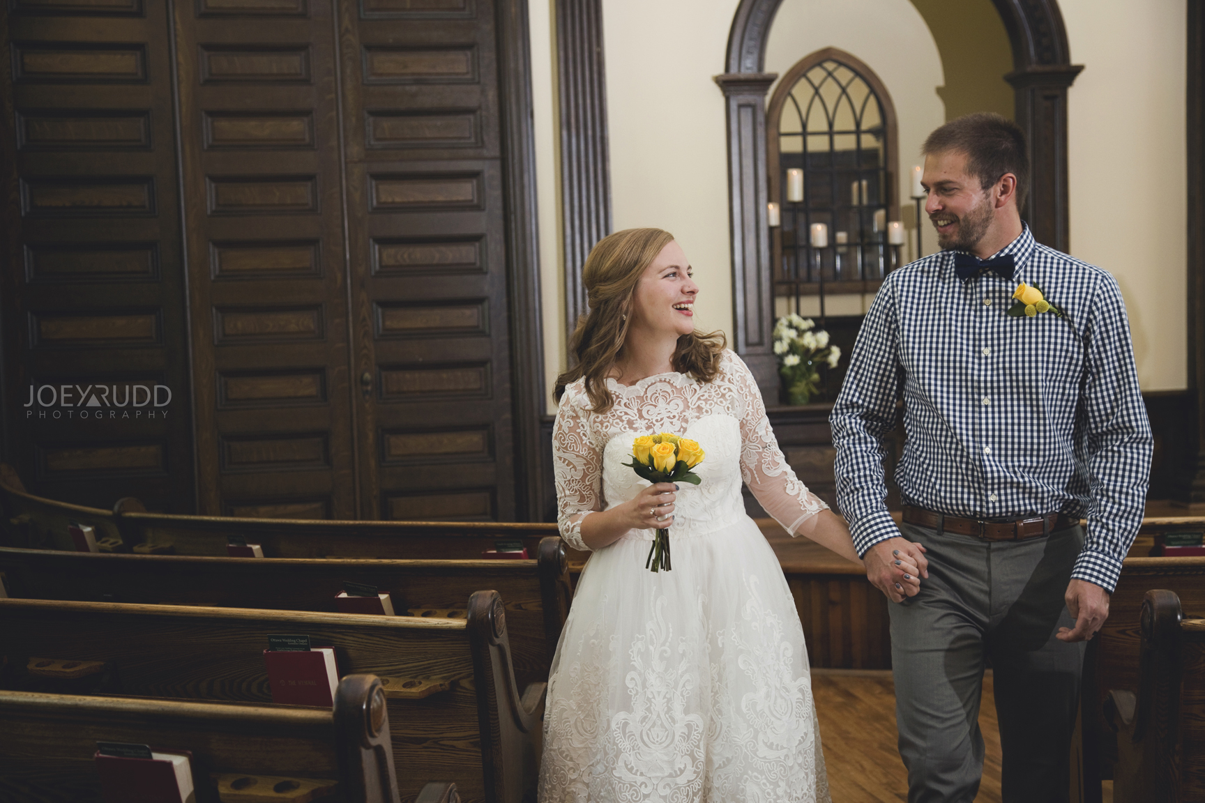 Ottawa Elopement by Joey Rudd Photography Ottawa Wedding Photographer Mer Bleue Ottawa Wedding Chapel Recessional