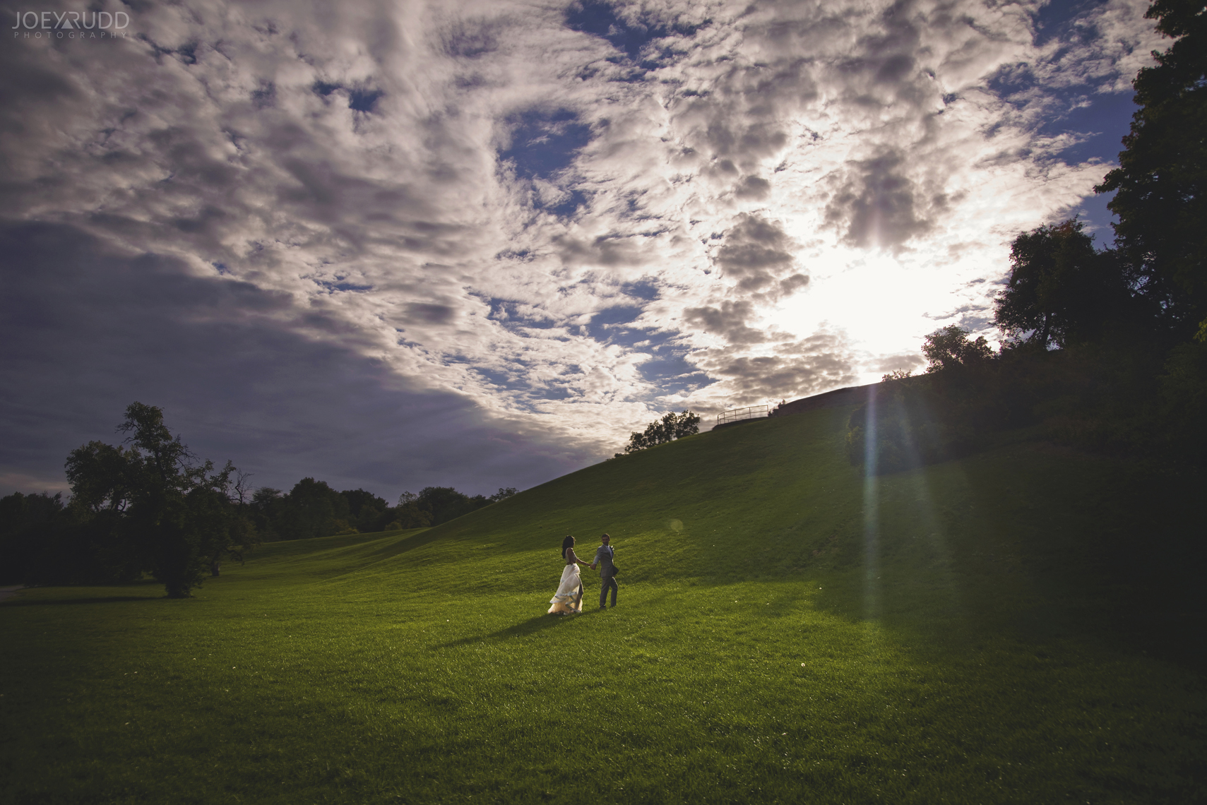 Elopement Wedding at the Arboretum by Ottawa Wedding Photographer Joey Rudd Photography Sunset