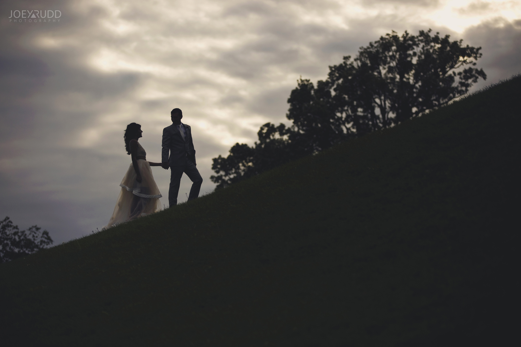 Elopement Wedding at the Arboretum by Ottawa Wedding Photographer Joey Rudd Photography Hill Dramatic