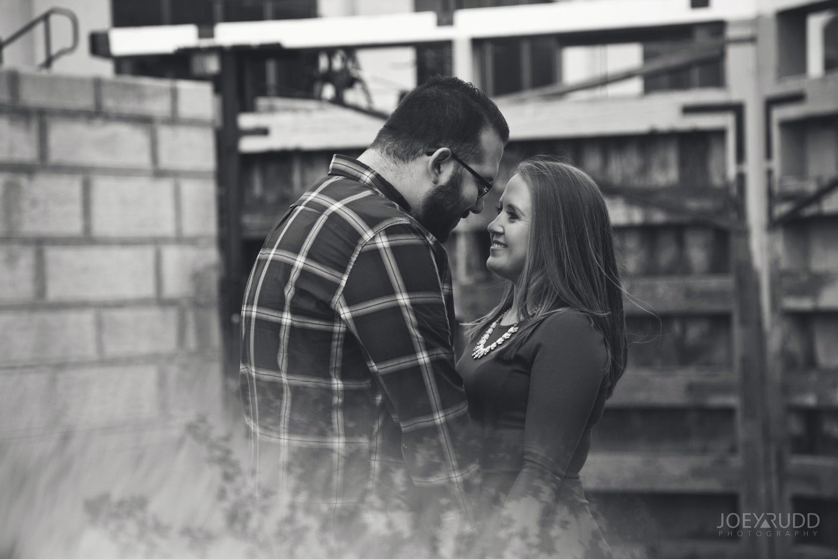 University of Ottawa Engagement by Ottawa Wedding Photographer Joey Rudd Photography Prism Prisming Black and White