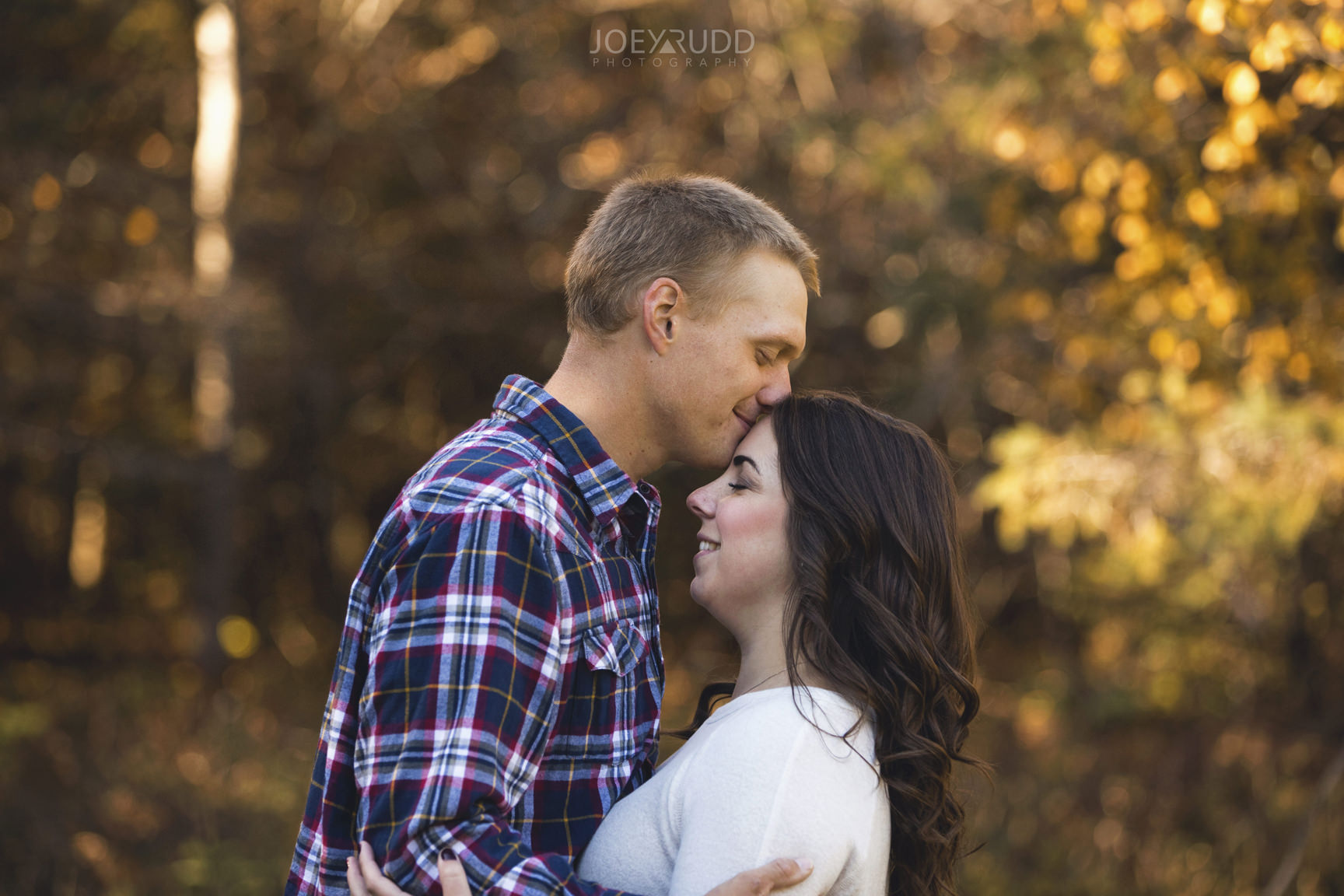 Carleton Place Engagement by Joey Rudd Photography Kissing Forehead
